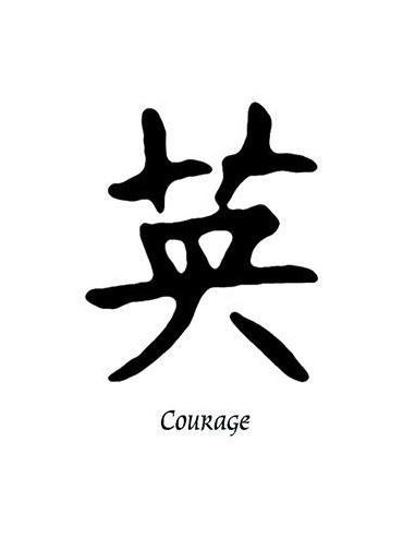 Kanji znak Courage - nalepovací tetování