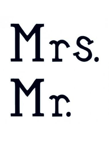 Mr. a Mrs. - svatební nalepovací...