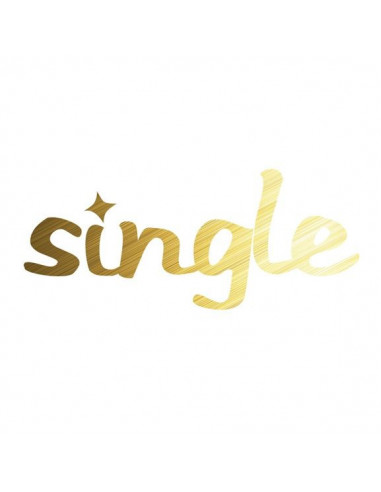 Metalický zlatý nápis Single -...