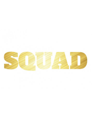 Metalický zlatý nápis Squad -...