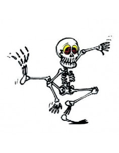Tančící kostlivec svítící...