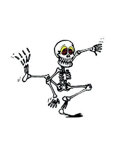 Tančící kostlivec svítící ve tmě -...