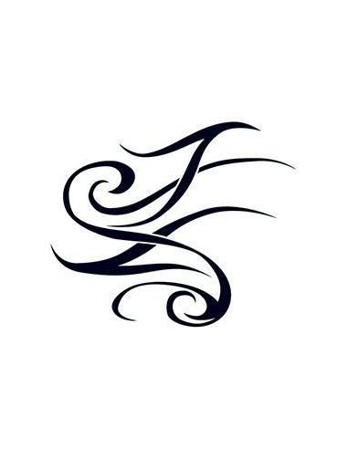 Klasické tribal nalepovací tetování -...