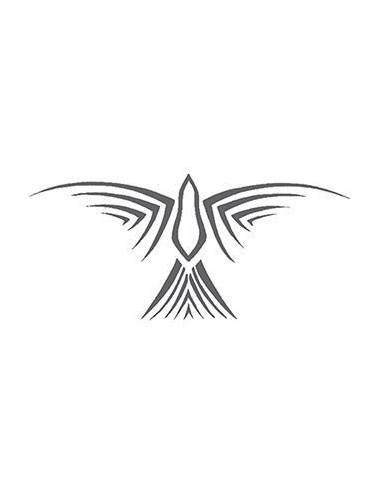 Šedý pták - tribal nalepovací tetování