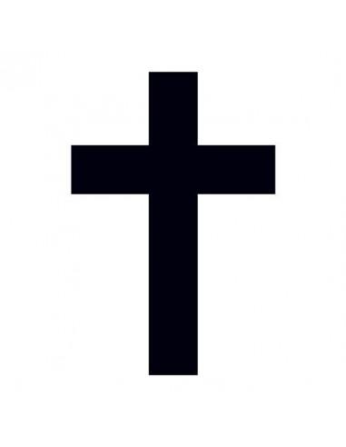 Malý černý křížek - nalepovací tetování