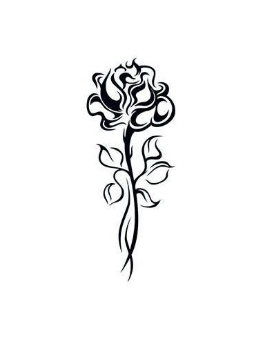 Růže na dlouhém stonku - tribal...