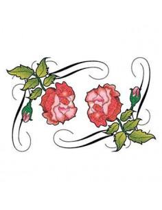 Dvě třpytivé růže - tribal...