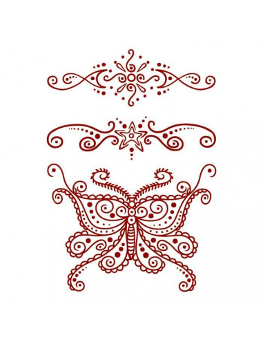 Červený motýl a další motivy - henna...