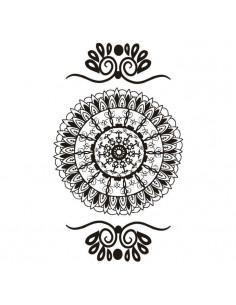 Černá mandala - henna...