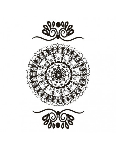 Černá mandala - henna nalepovací...