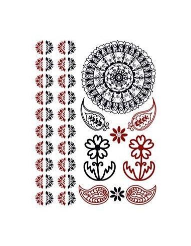 Mandala, kytičky a další červenočerné...
