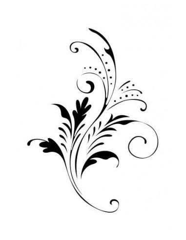 Jemný květinový motiv - nalepovací...