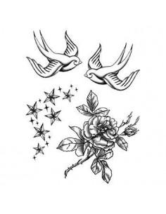 Vlaštovky, růže a hvězdičky...
