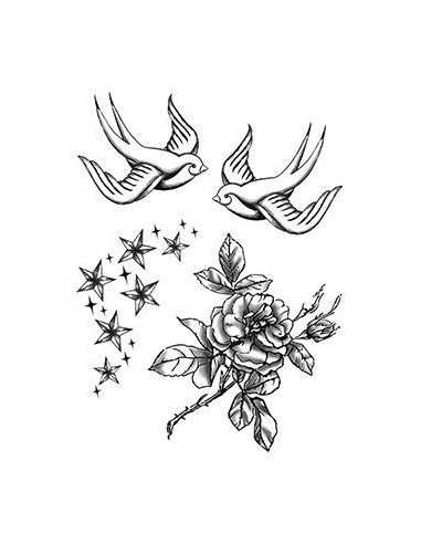 Vlaštovky, růže a hvězdičky -...