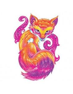 Třpytivá liška - nalepovací...