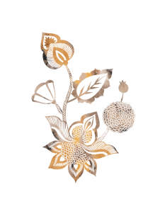 Metalická zlatá květina -...