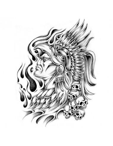 Aztécký válečník - velké nalepovací...