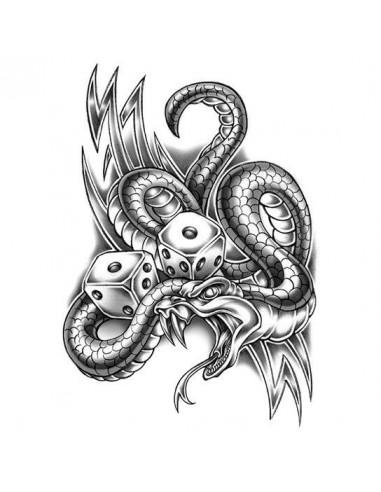 Had a kostky - velké nalepovací tetování