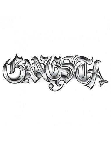 GANGSTA - velké nalepovací tetování