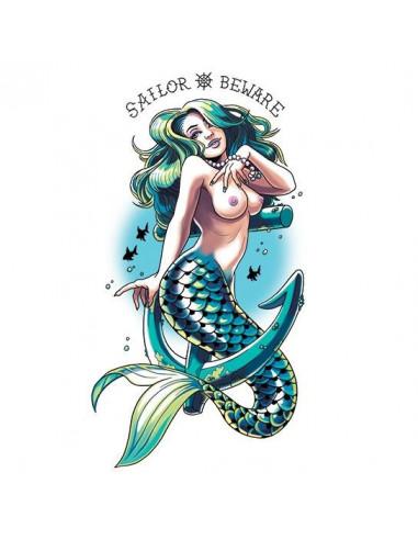 Mořská panna - velké nalepovací tetování
