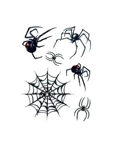 Pavouci a síť - sada tetovaček