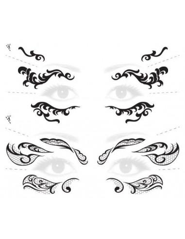 Krajkové masky - nalepovací tetování...