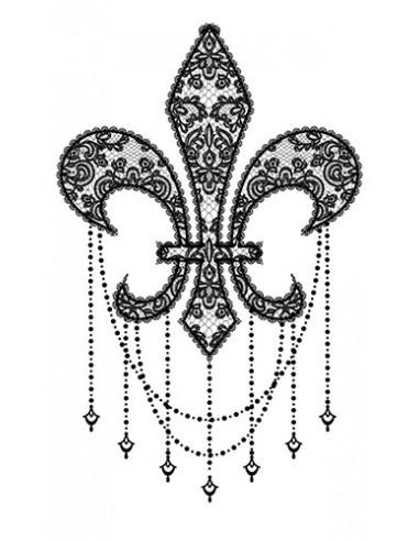 Fleur de Lis - nalepovací tetování