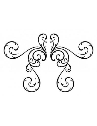Jemný motiv - nalepovací bikini tetování