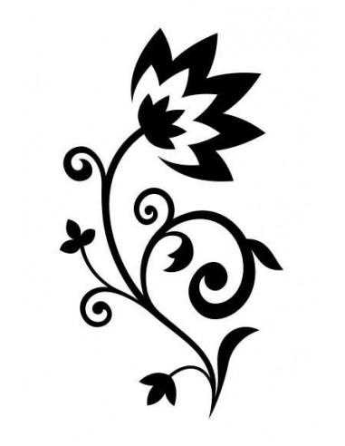 Černobílá květina - nalepovací tetování