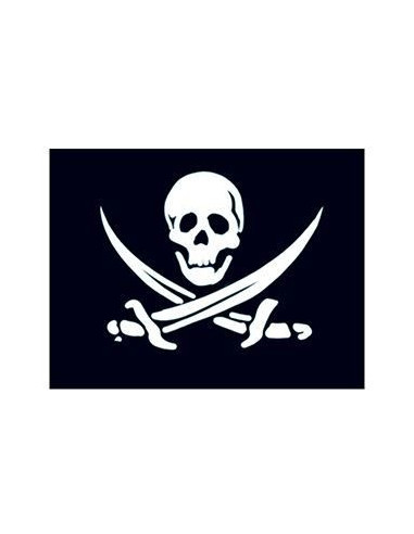 Malá pirátská vlajka - nalepovací...