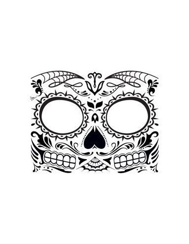 Halloweenská maska svítící ve tmě -...